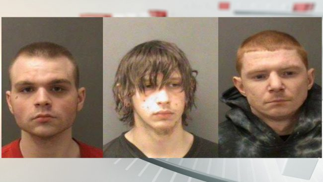 L-R_ Jason Boling, William Anderson, Jessie Fulton, arrested on Jan. 14, 2018, in connection with the murder of Steven Dunn in New Castle. (Pro_801016