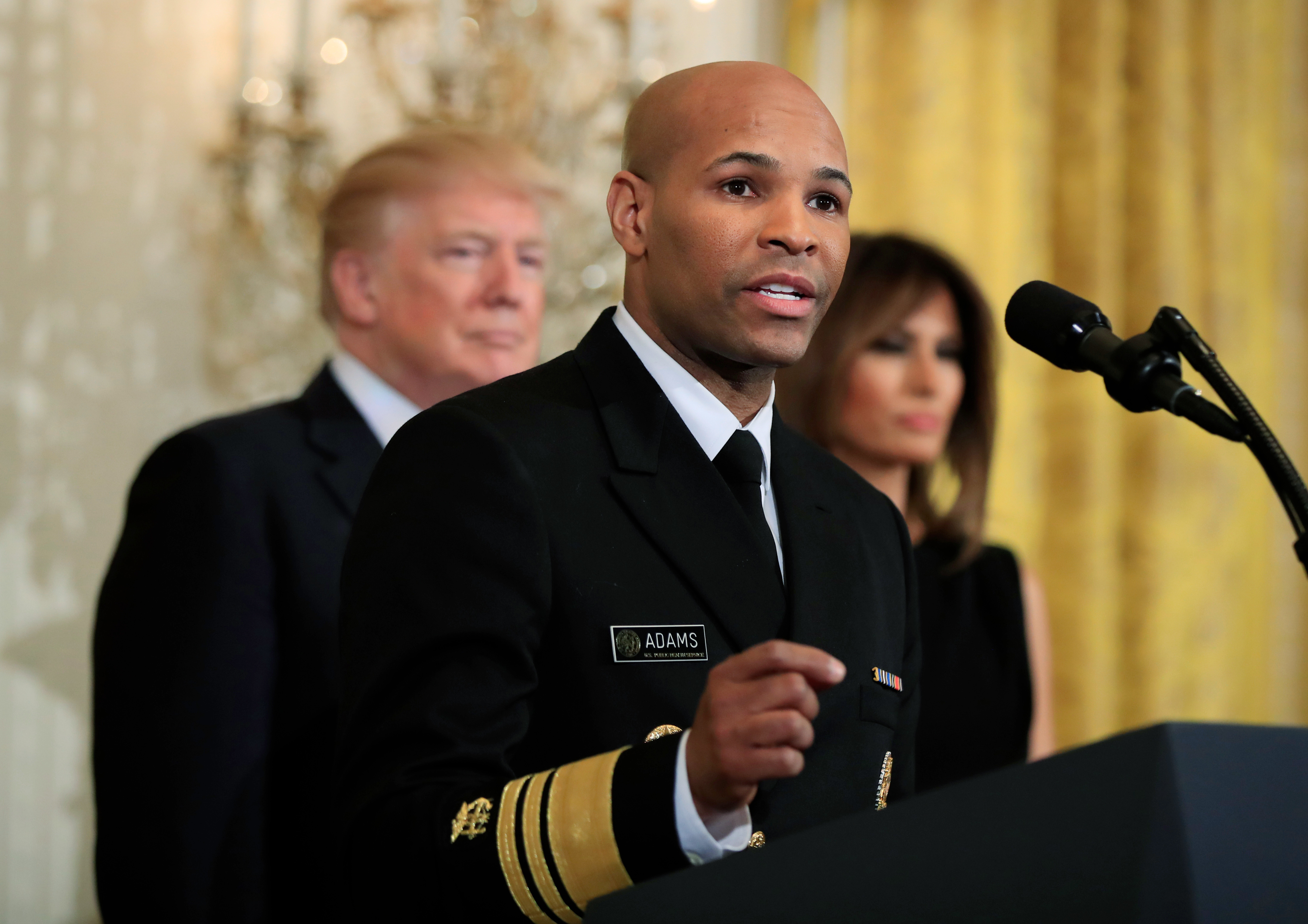 US Surgeon General Jerome Adams asked to step...