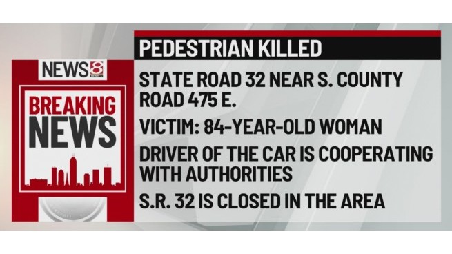 Pedestrian killed in Delaware County