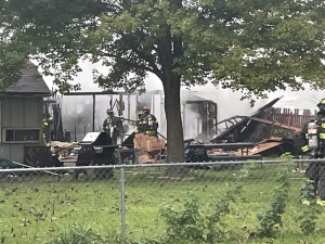 Fire-pit construction above damaged gas line causes explosion, house fire injuring 5
