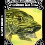 book cover art with a fish and a mouthful of money