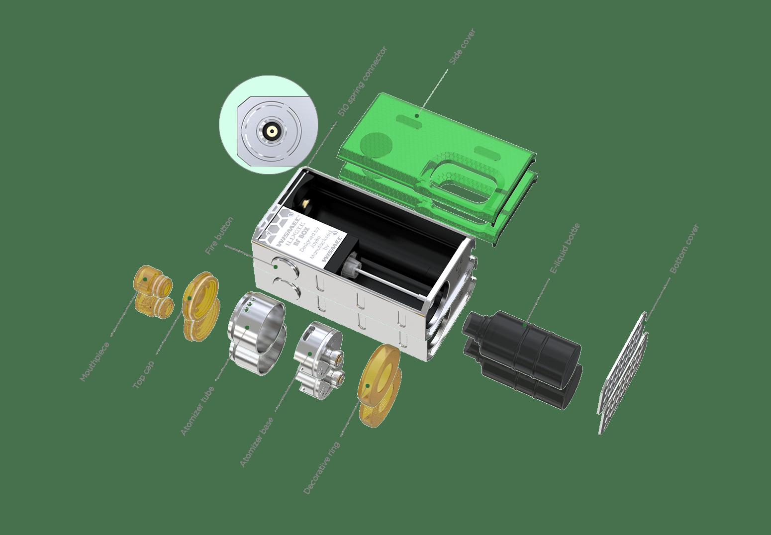 medium resolution of wismec luxotic bf box