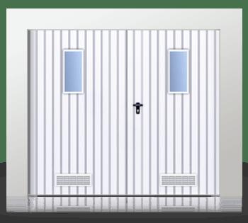 brama rozwierna dwuskrzydlowa okienka wentylacja