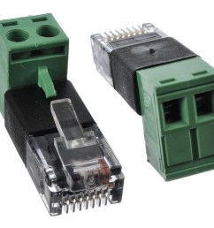 rj45 modular plug to screw terminal wire adapter for poe cat5 ethernet cable wiring diagram rj45 cable [ 1250 x 1000 Pixel ]
