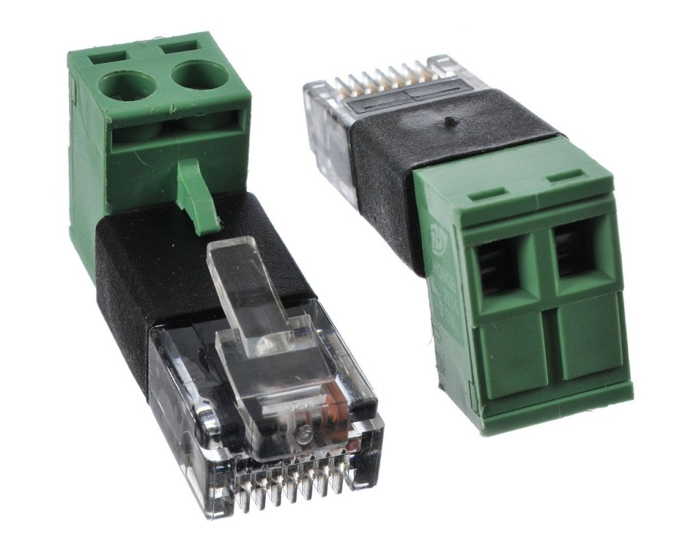 medium resolution of rj45 modular plug to screw terminal wire adapter for poe cat5 ethernet cable wiring diagram rj45 cable
