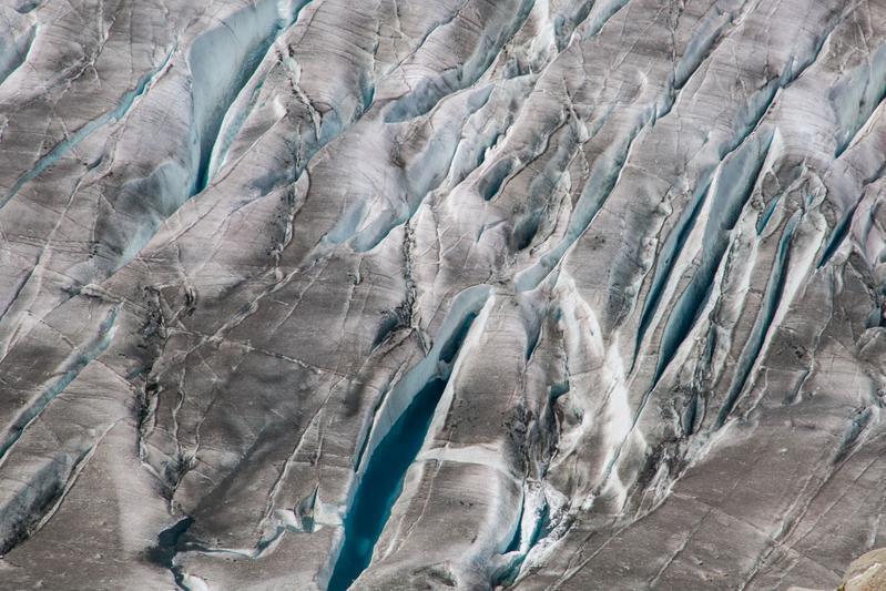 Das Eisvolumen in den Alpen schrumpft