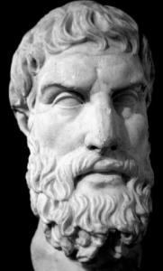 Marmorbüste des Epikur. Röm. Kopie des griech. Originals. 2./3. Jhdt. v. Chr.