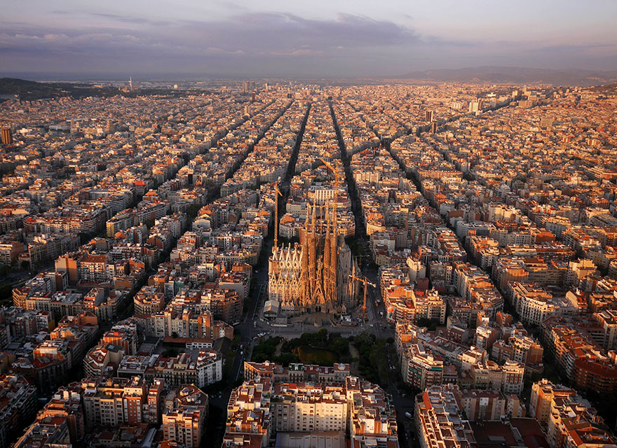 Le quartier de la Sagrada Familia (Barcelone) Photo : Amos Chapple