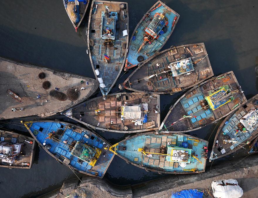 Les docks de Sassoon à Mumbai (Inde) Photo : Amos Chapple