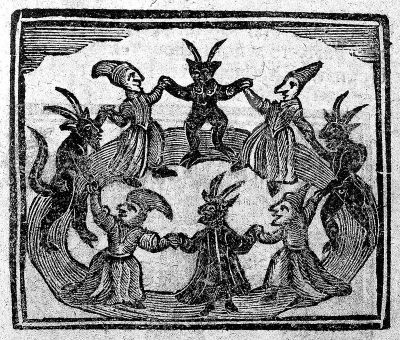 Witches dancing with devils
