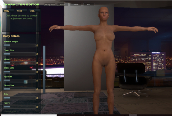 City of Sin 3D character creation