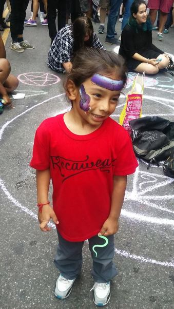 Wee Princess w/Protestors 'I love you anyway'