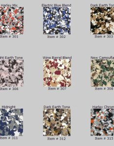 Graphic premade color blends also epoxy floors flakes choices by witcraft painting  decorative rh witcraftepoxyflooring