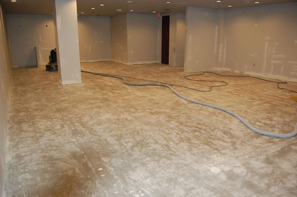 Commercial Epoxy Floor Showroom Beazer Homes Raleigh NC