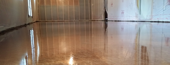 Copper Metallic Epoxy Floor in Apex NC by Witcraft Painting and Renovation  THE GARAGE FLOOR