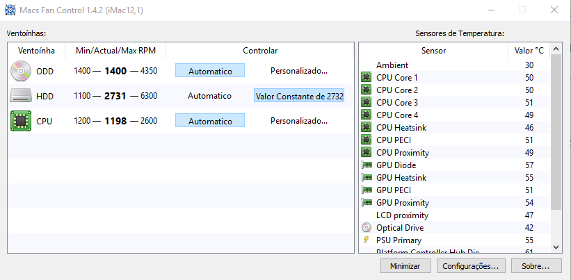 Barulho de Ventoinha (Cooler) após a Troca de HD no MAC