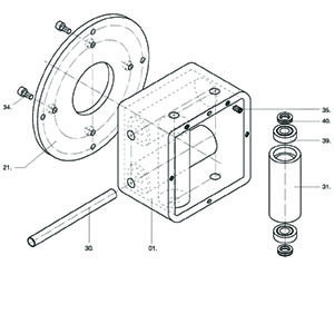 RK Wire Roller Box spare parts