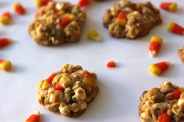 popcorn candy corn cookies | via withach.com