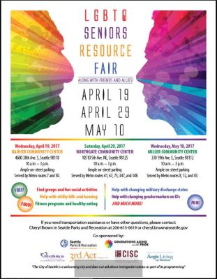 Snip of LGBTQ Resource Fair Flyer