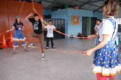 Strauss' crazy jump ropes and Safe Passage kids
