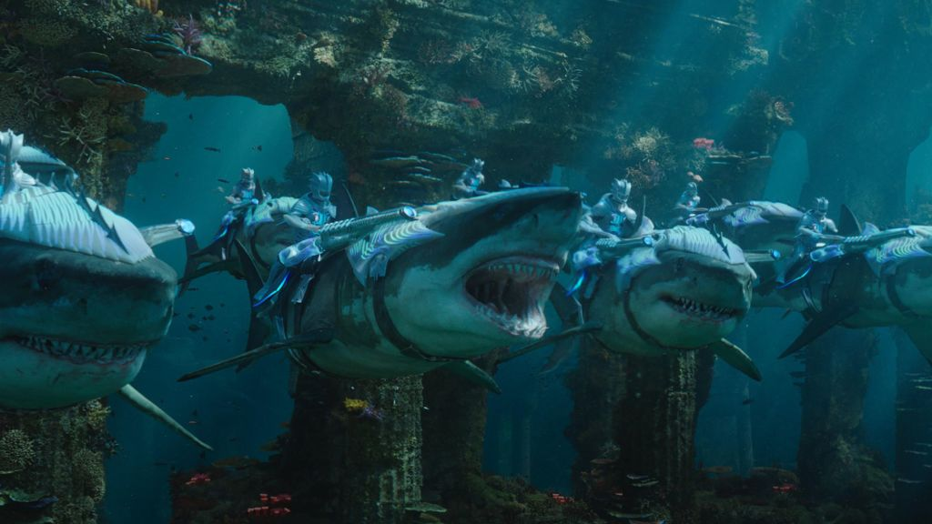 aquaman sharks with laser
