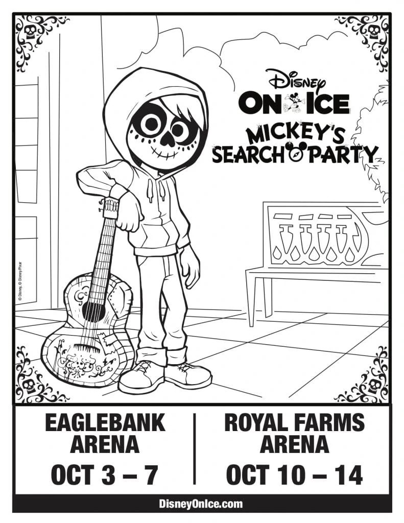 Disney On Ice Mickey's Search Party Coloring Page