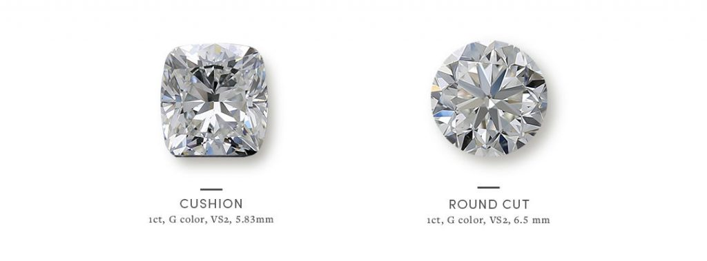 Round vs Cushion: How to Choose Between Diamond Shapes
