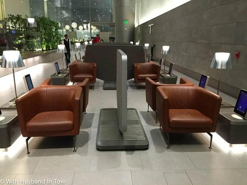 Qatar Business Class Lounge in Doha