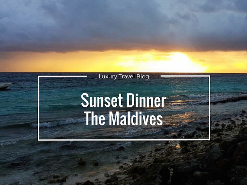 Sunset Dinner in The Maldives Outrigger Resorts