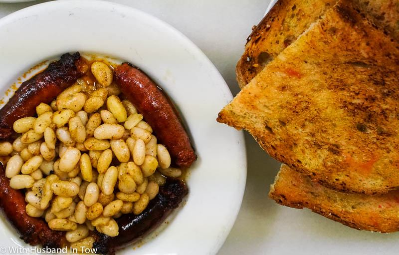 Barcelona Spain food white beans