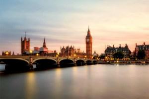 Big Ben and London Bridge at sunset