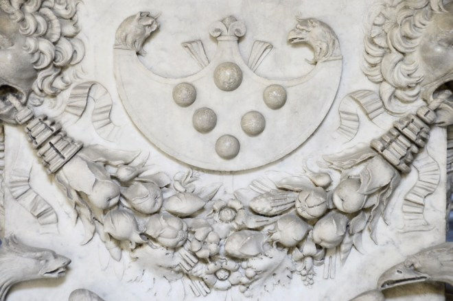 Escutcheon Medici in Florence