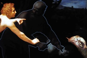 "history of art - ""Il sacrificio di Isacco"" (Caravaggio - Ufizzi Gallery - Florence), according to filmmaker Peter Greenaway"