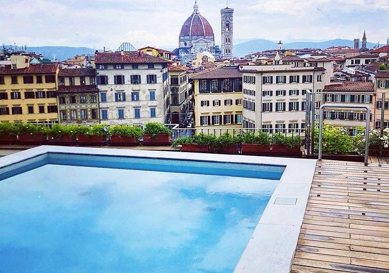 Three-Sixty rooftop bar at Minerva Grand Hotel: panoramic aperitivo in Florence