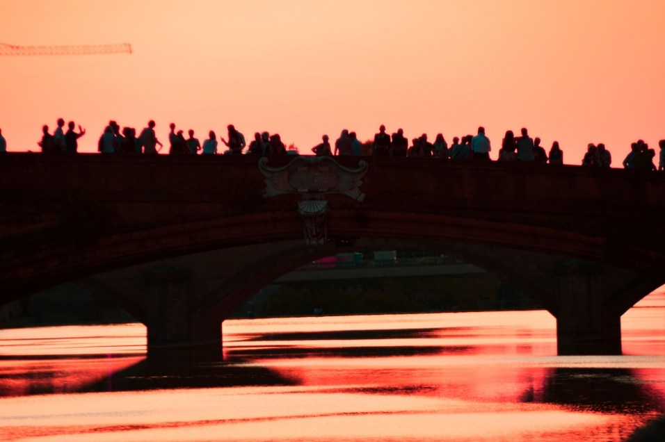 Sunset at Santa Trinita Bridge in Florence