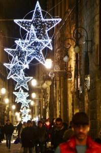 Streets of Florence at Christmas time - Borgo degli Albizi