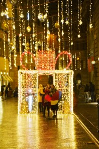 Streets of Florence at Christmas time - Via Tornabouni