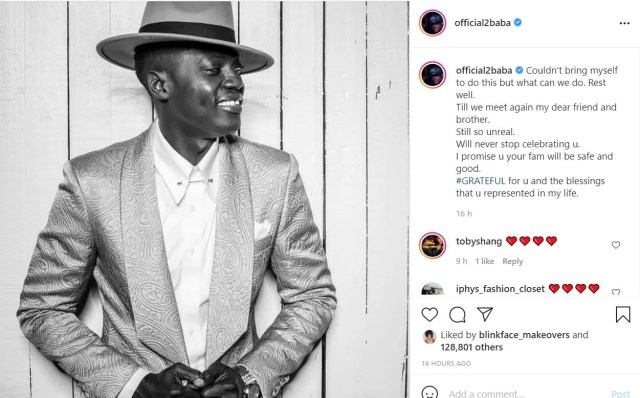 'I'm Grateful For The Blessings You Represented In My Life' –2Face Mourns Late Sound Sultan