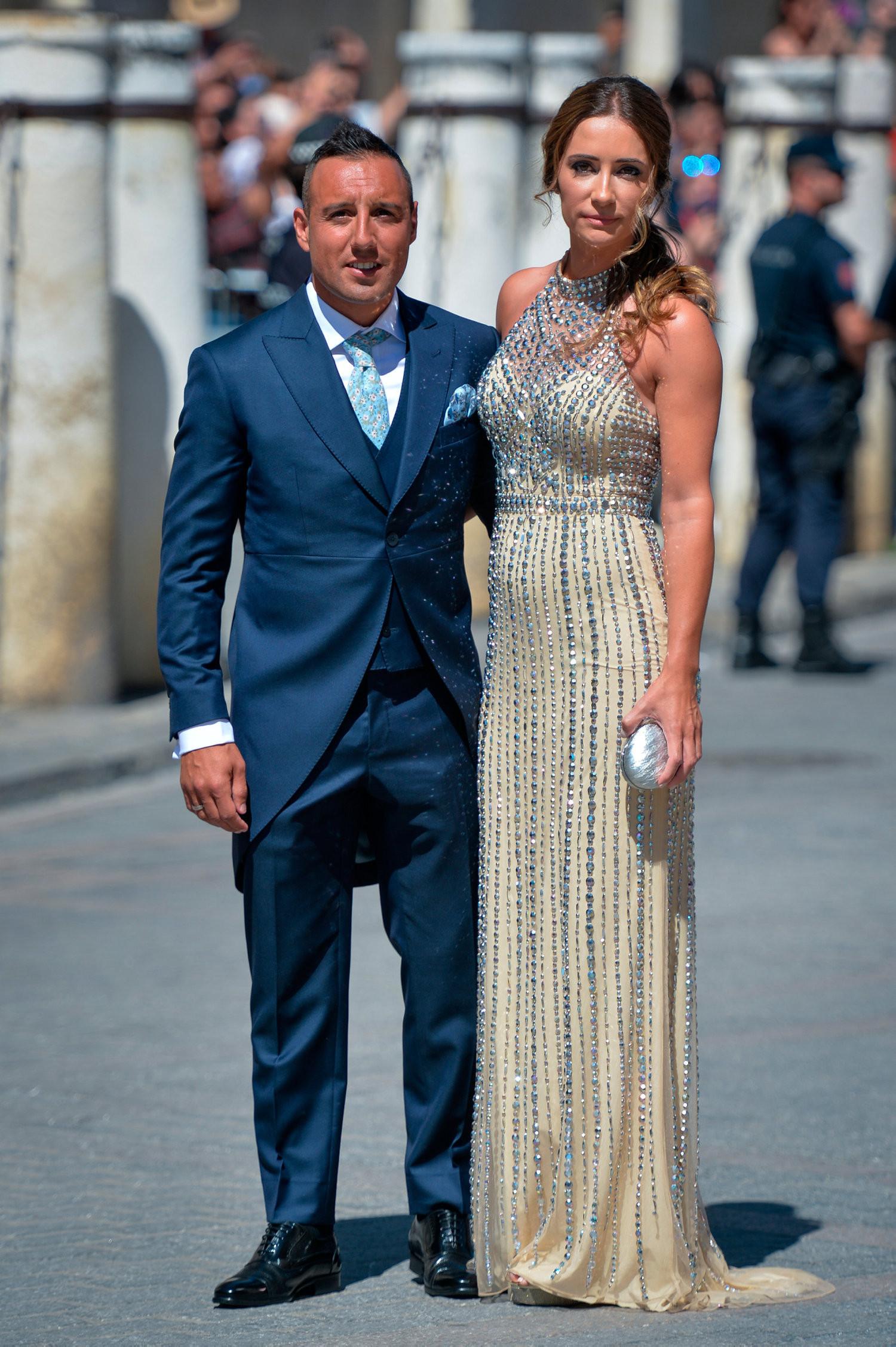 David and Victoria Beckham join football stars at Sergio Ramos wedding Photos