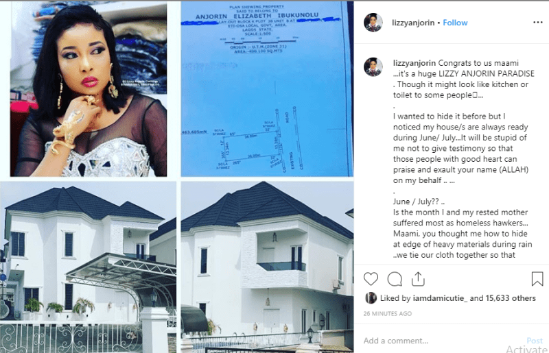 Liz Anjorin shows off her new house