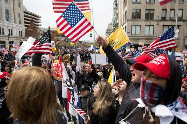 Thousands protest in US against coronavirus lockdown restrictions