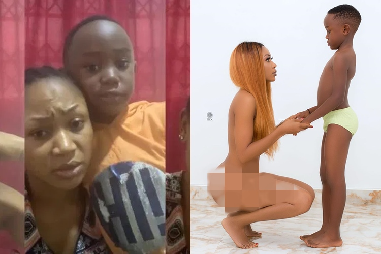 Video: Akuapem Poloos Son Pleads With Ghanaians To Forgive His Mom Over Nude Photo