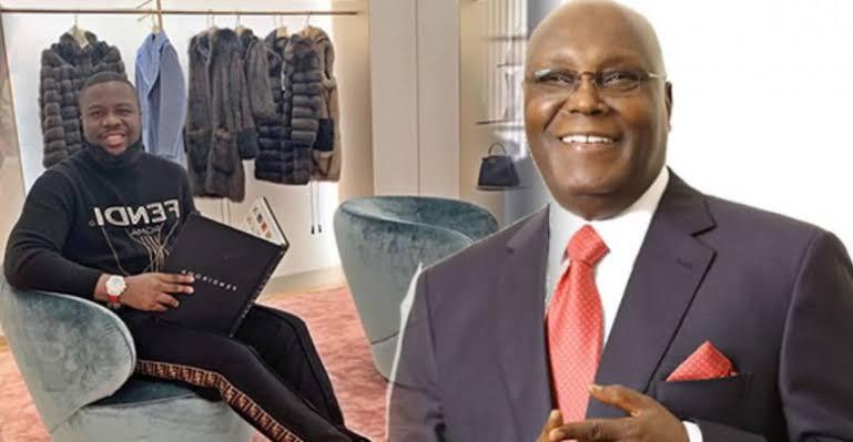 Former Vice President, Atiku Abubakar denies having any link with Hushpuppi