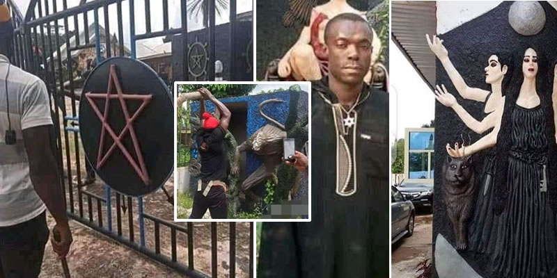 Church of Satan at Ohafia, Abia State destroyed and founder arrested
