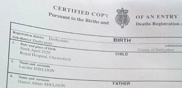 Couple win battle to name son Lucifer