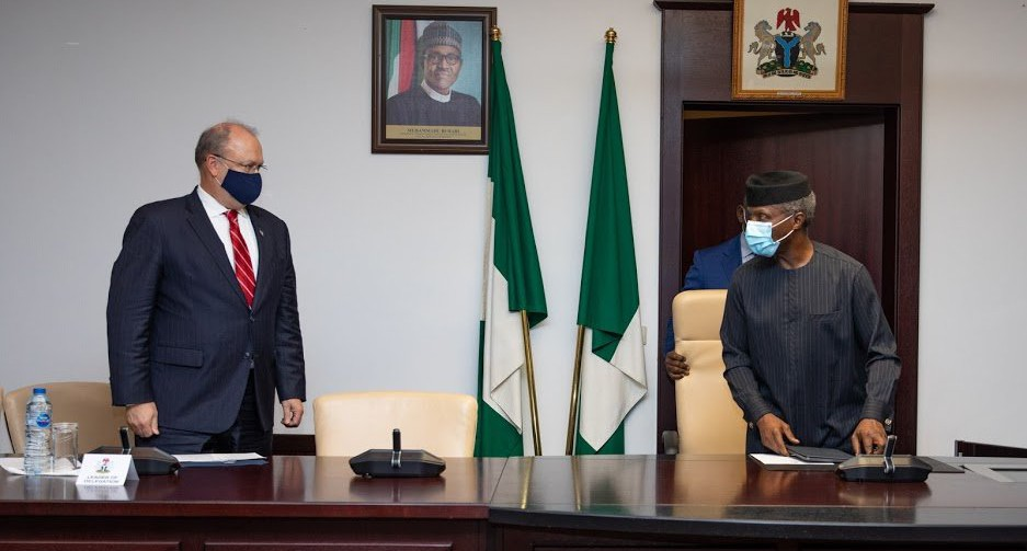 EndSARS: US Counsellor meets Osinbajo, raises concern over unrest in Nigeria