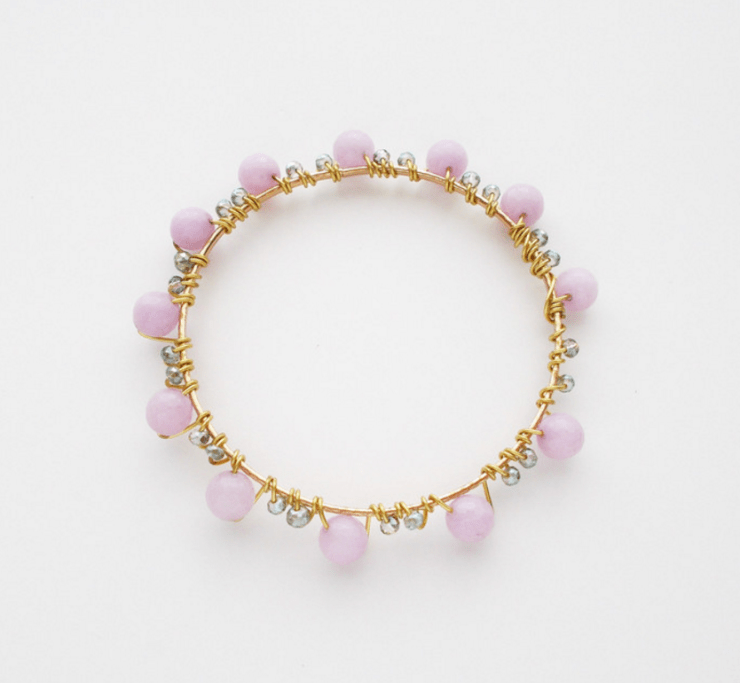 the Katz Meow Creations Betty Bangle in lavender