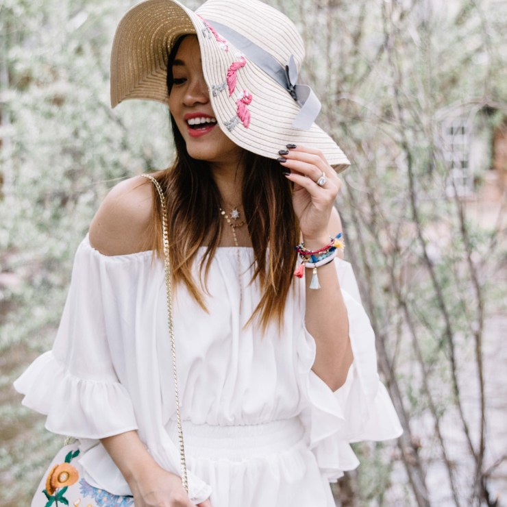 white romper Chicwish