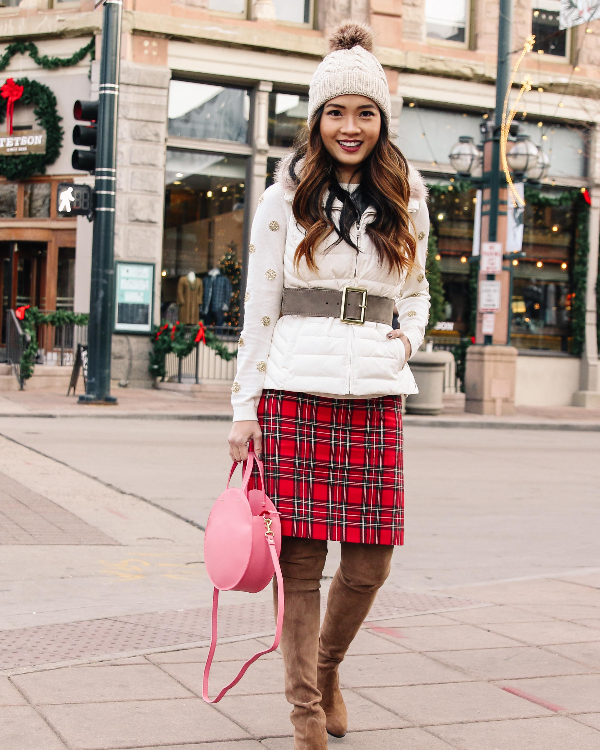 2de710b2f2ec First, let's start with the festive details. You can't go wrong with red  plaid. I love this skirt from Talbots because it's perfect for a holiday  party.