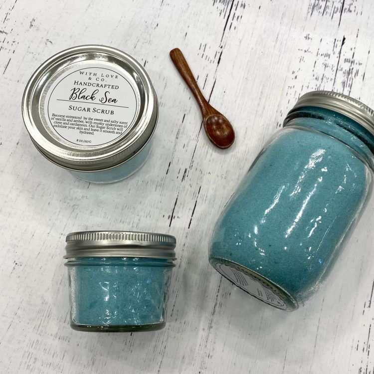 black sea sugar scrub image